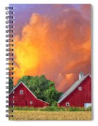 Two Barns At Sunset Spiral Notebook