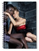 Two Beautiful Women Sitting Together Spiral Notebook