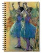 Two Blue Dancers Spiral Notebook