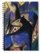 Two Blue Horses 1913 Spiral Notebook