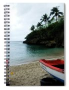 Two Boats, Island Of Curacao Spiral Notebook