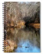 Two Boys Fishing Spiral Notebook