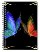 Two Butterflys -4 Spiral Notebook