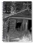 Two Cabins One Outhouse Spiral Notebook