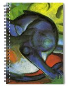 Two Cats Blue And Yellow 1912 Spiral Notebook