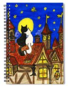 Two Cats On The Roof Spiral Notebook