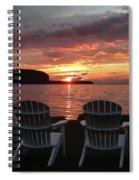 Two Chair Sunset Spiral Notebook