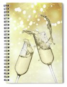 Toast Champagne Glasses Spiral Notebook