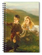 Two Children Fishing In Scotland   Spiral Notebook