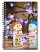 Two Chocolate Snowmen 2 Spiral Notebook