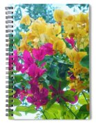 Two Color Flowers Spiral Notebook