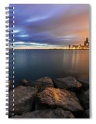 Two-colored Sky During The Sunrise Spiral Notebook