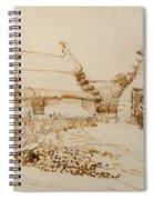 Two Cottages At Saintes Maries De La Mer Spiral Notebook