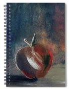 Two Dimensional Apple Spiral Notebook