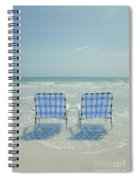 Two Empty Beach Chairs Spiral Notebook