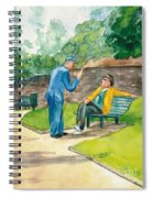 Two Englishmen In Conversation  Spiral Notebook
