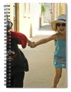 Two Excited Children Spiral Notebook