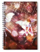 Two Fairies In The Web Spiral Notebook