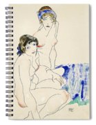 Two Female Nudes By The Water Spiral Notebook