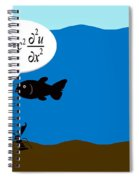 Two Fish Discuss Wave Theory. Spiral Notebook