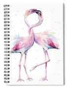 Two Flamingos Watercolor Famingo Love Spiral Notebook