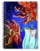 Two Flowers With Vase Spiral Notebook
