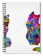 Two Fluffy Cats-colorful Spiral Notebook