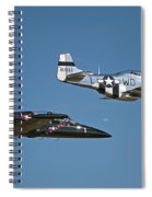 Two Generations Of Aircraft Spiral Notebook