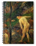 Two Girls Bathing 1887 Spiral Notebook