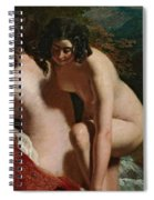 Two Girls Bathing Spiral Notebook