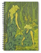 Two Girls Next To The Head Of Orpheus Spiral Notebook