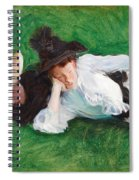 Two Girls On A Lawn Spiral Notebook