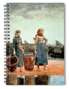 Two Girls On The Beach Spiral Notebook