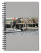 two girls swimming in the Atlantic Ocean Spiral Notebook