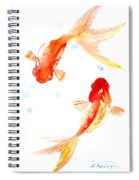 Two Goldfish Feng Shui Spiral Notebook