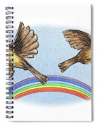 Two Happy Birds Spiral Notebook