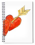 Two Hearts   Arrow Spiral Notebook