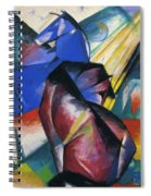 Two Horses Red And Blue 1912 Spiral Notebook