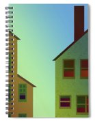 Two Houses Spiral Notebook