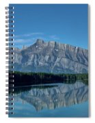 Two Jack Lake In The Morning Spiral Notebook