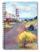 Two Lights In Cape Elizabeth Maine Spiral Notebook