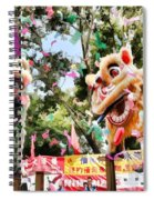 Two Lions Dancing  Spiral Notebook