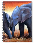 Two Little Elephants Spiral Notebook