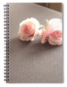 Two Little Pink Roses Spiral Notebook