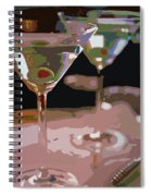 Two Martini Lunch Spiral Notebook