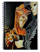 Two Masks In Venice  Spiral Notebook