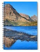Two Medicine Lake Sunrise Panorama Spiral Notebook