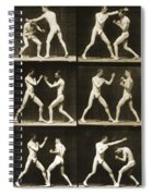 Two Men Boxing Spiral Notebook