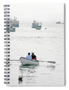 Two Men In A Dinghy Spiral Notebook