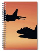 Two Migs At Sunset Spiral Notebook